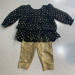 5/$20 Healthtex polka dot ruffle sparkly outfit